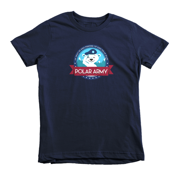 Image of Kids Polar Army T-Shirt (Navy)