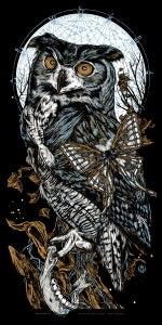 Image of ARIANRHOD - EAGLE OWL - art print