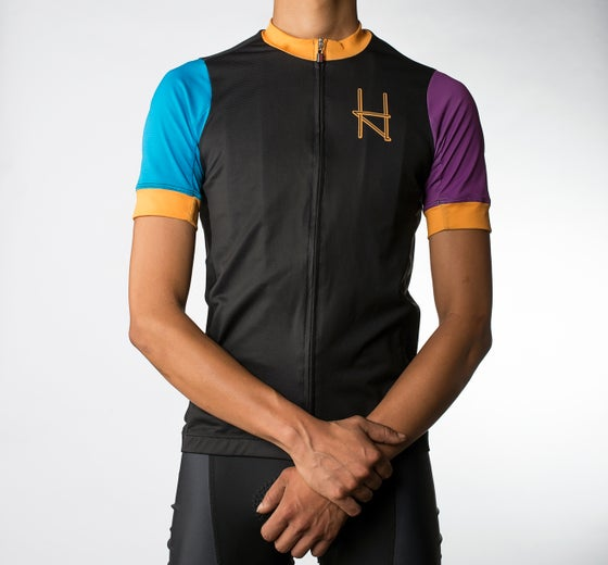 Image of Halcyon Cycling Jersey, Black