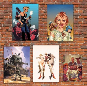 Image of Tank Girl Gold Four-Print Set (plus Gold Patch!)