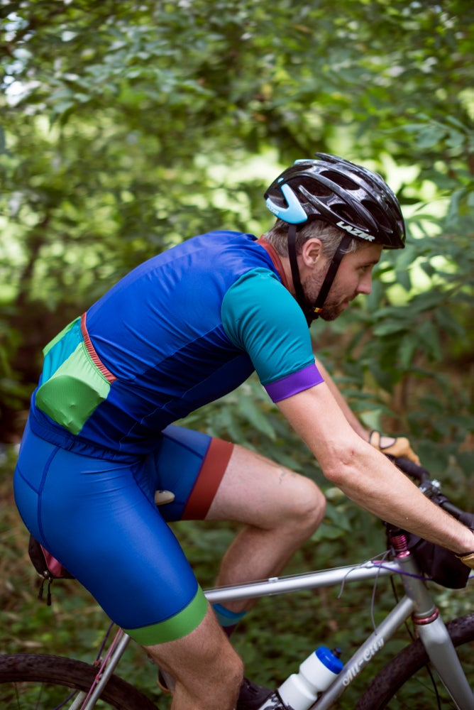 Image of Halcyon Cycling Jersey, Blue