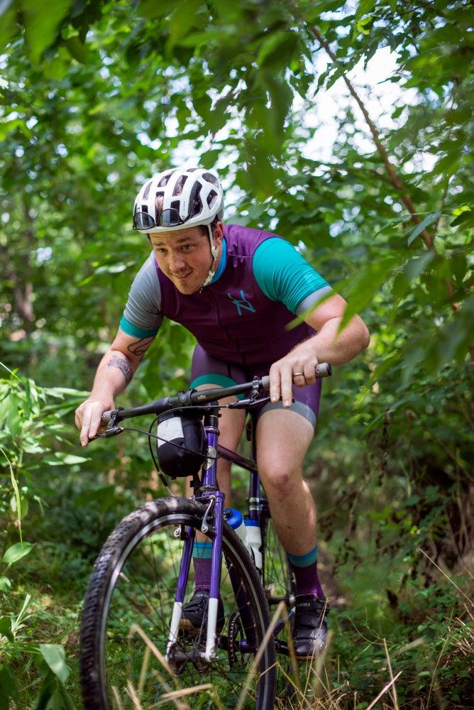 Image of Halcyon Cycling Jersey, Purple