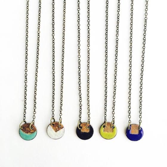 Image of Enamel Circle Necklace