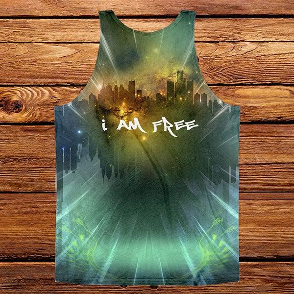 """Image of """"I am Free"""" sublimated tank"""