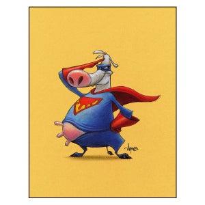 "Image of ""Super Moo"" Cow Print"