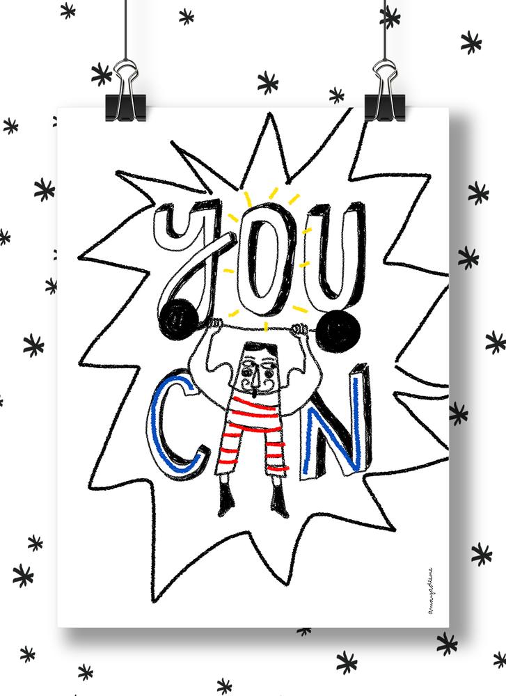"""Image of Lámina """"You Can"""""""