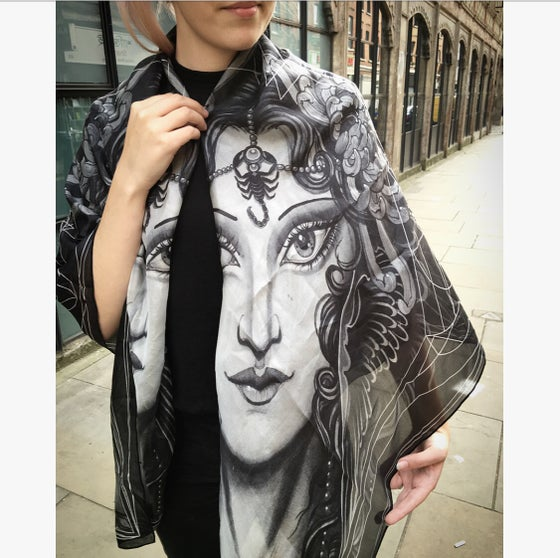 Image of Scorpio.SilkScarf.