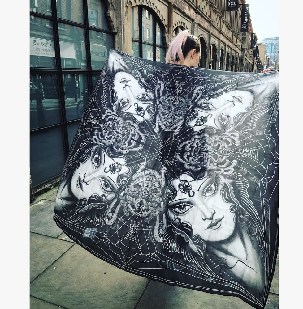 Image of Scorpio.SilkScarf.
