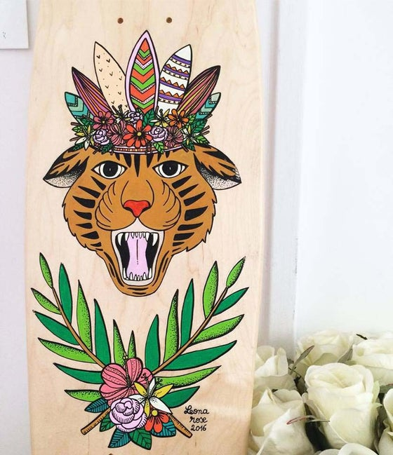 Image of SKATE Tigre à fleurs