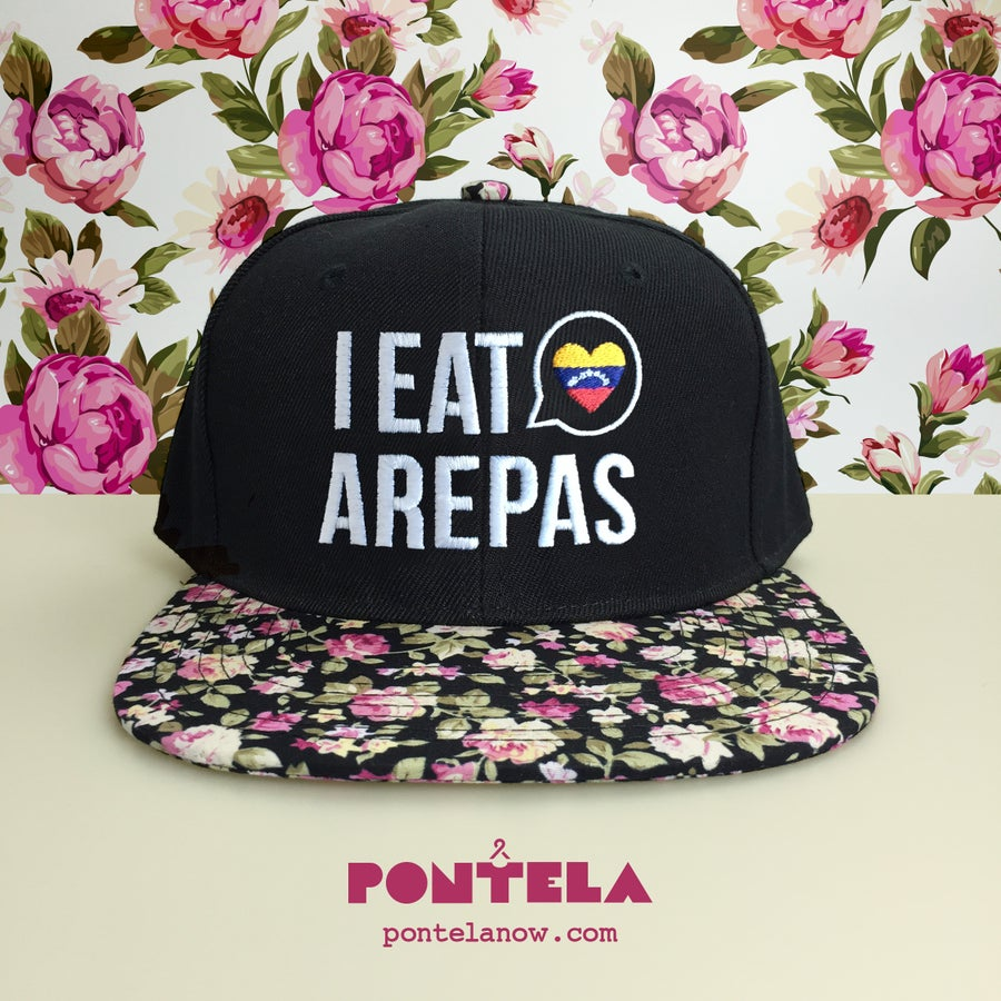 Image of I Eat Arepas Black Mini Roses