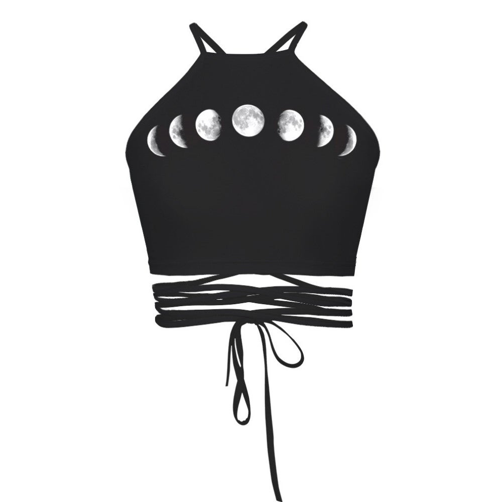 Image of Moon Phase Halter Top