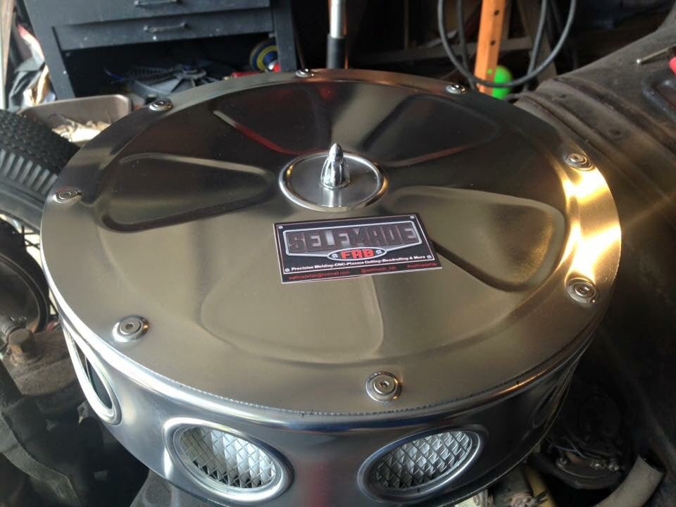 Custom Made Air Cleaners : Air cleaner cover selfmade fab