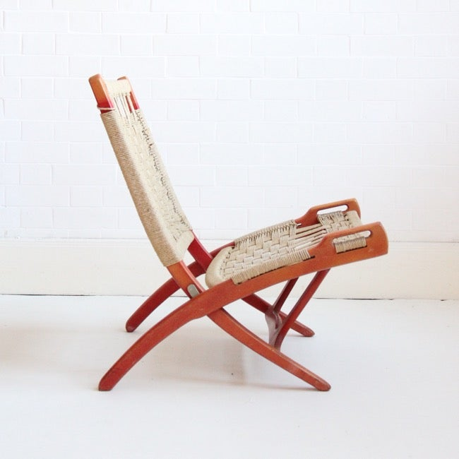 Image of Ebert Wels Folding Chair, Red.