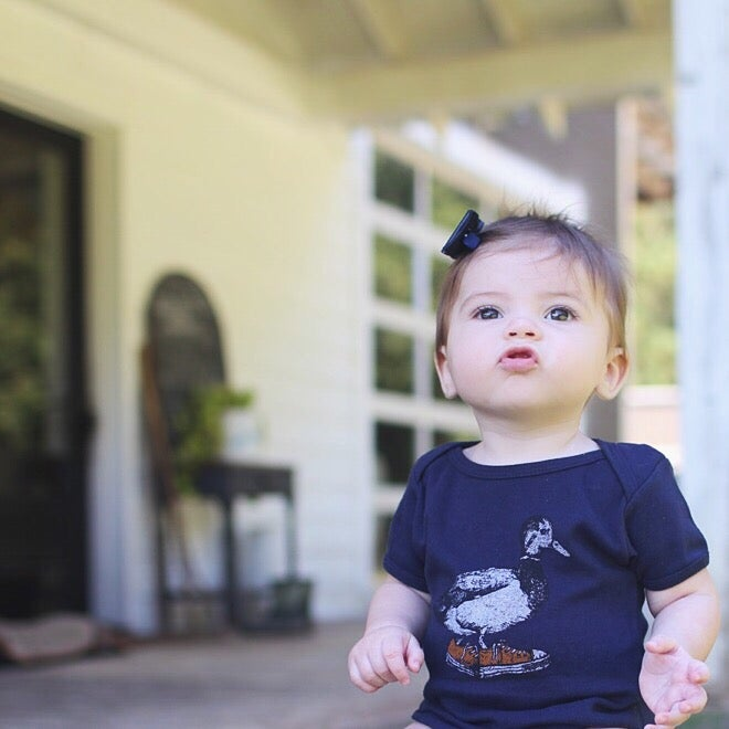 Image of Baby Duck Taylor Onesies