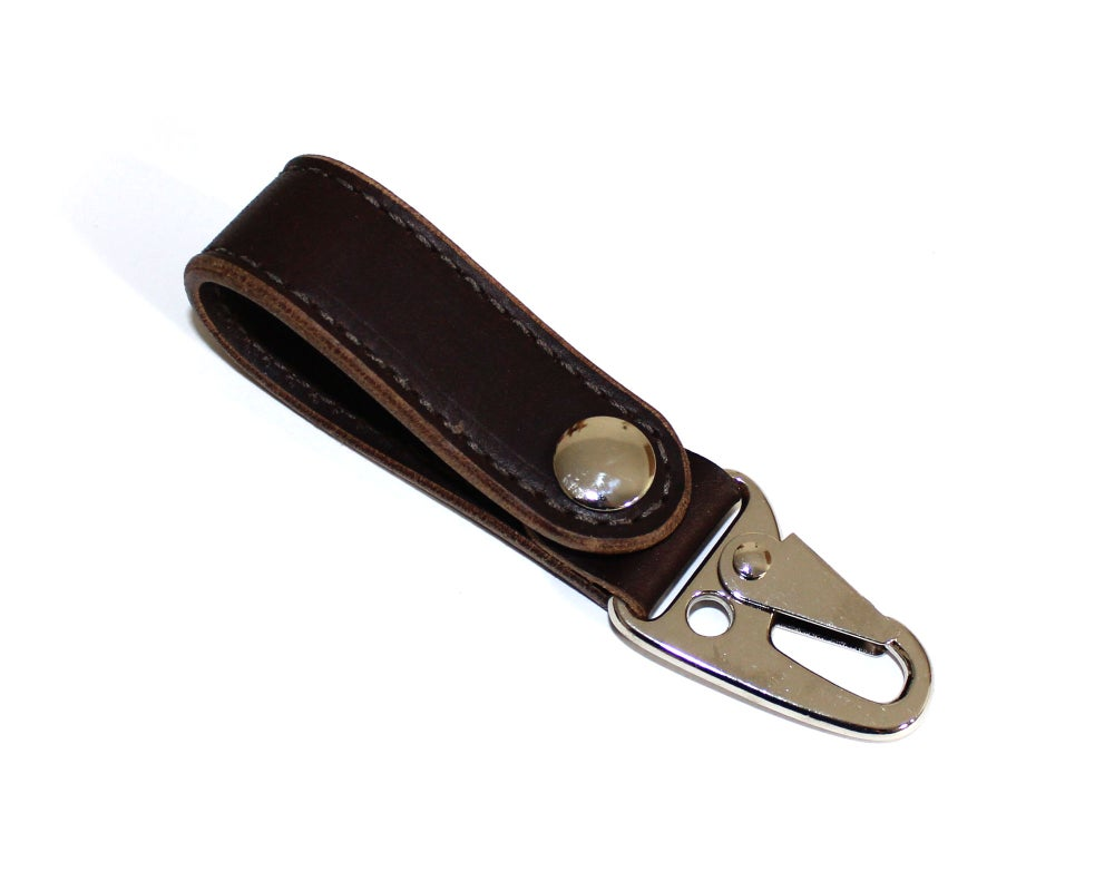 Image of Built Lanyard - Dark Brown Horween