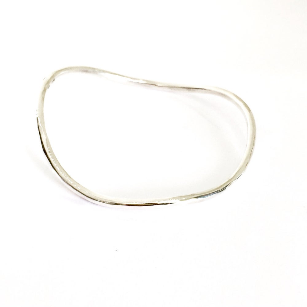 Image of Organic Sterling silver Bangle