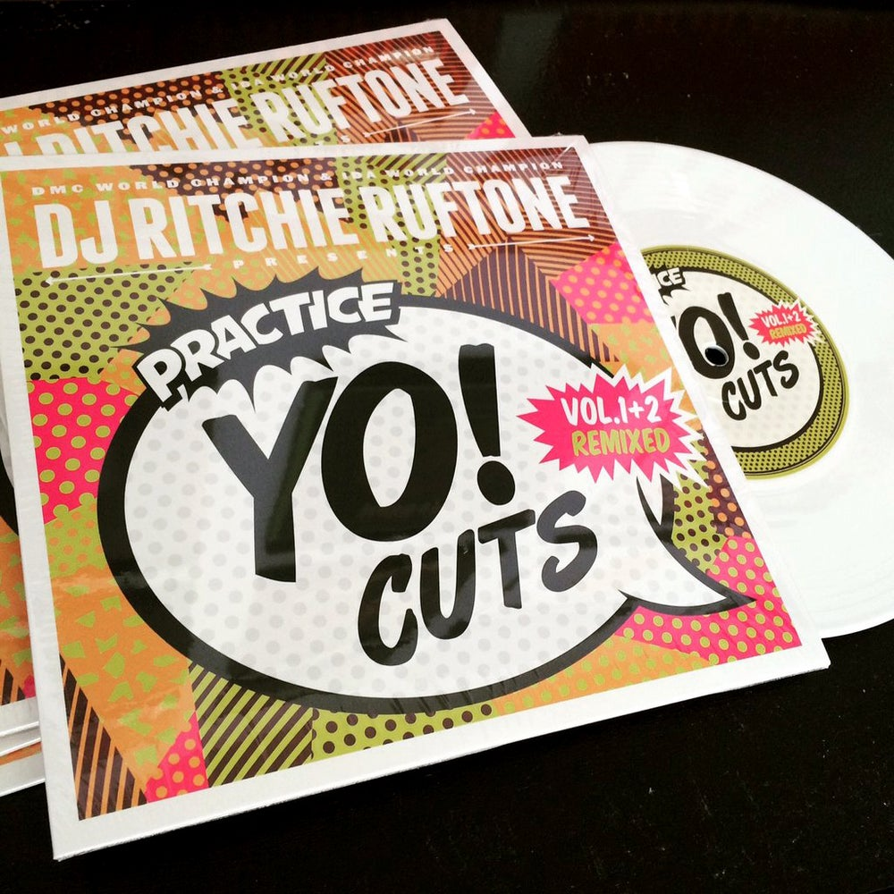 """Image of Practice Yo! Cuts V1 and V2 remixed (original white 7"""")"""