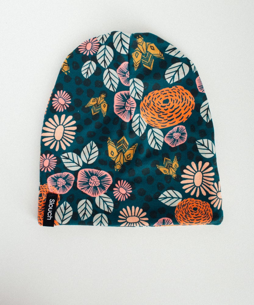 Image of Floral Slouch Beanie
