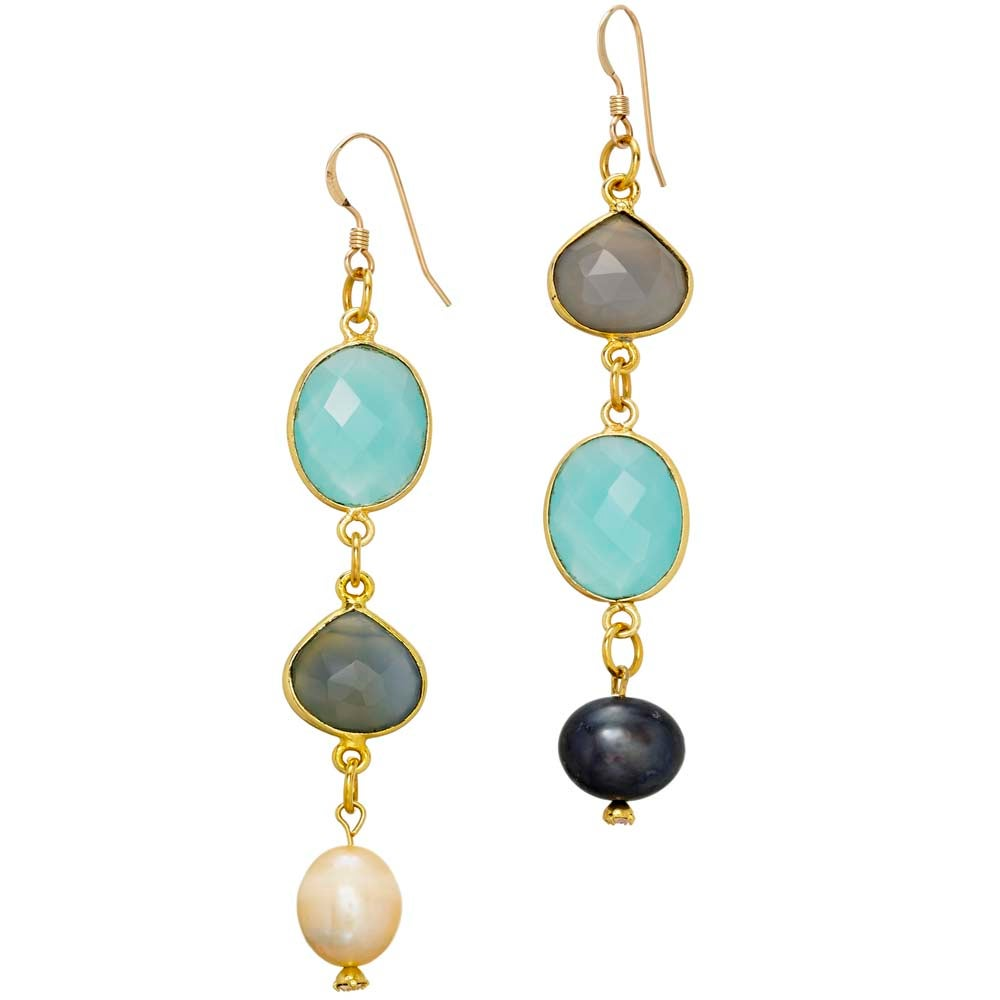 Image of GEMMA & GINA MISMATCHED EARRINGS