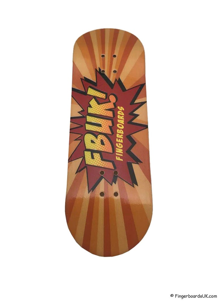 Image of FBUK Premium Graphic Deck - KAPOW Orange