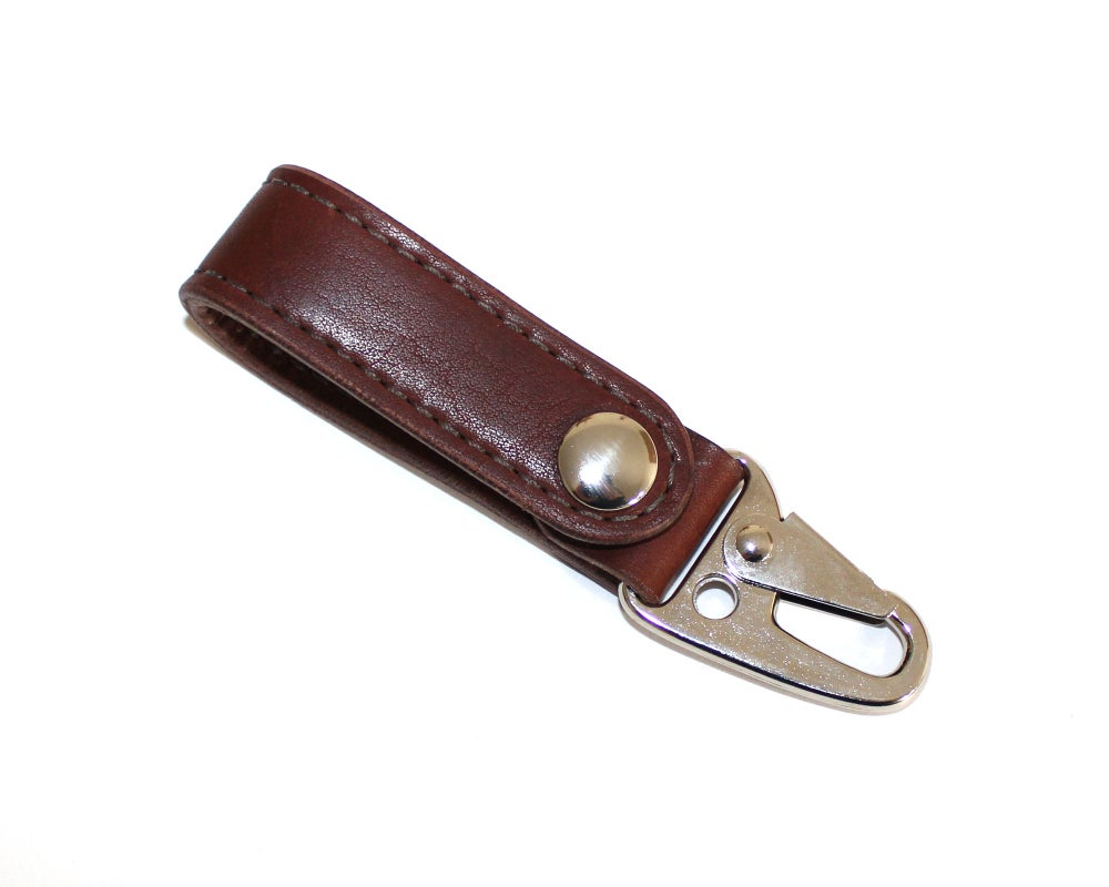 Image of Built Lanyard - Brown Essex