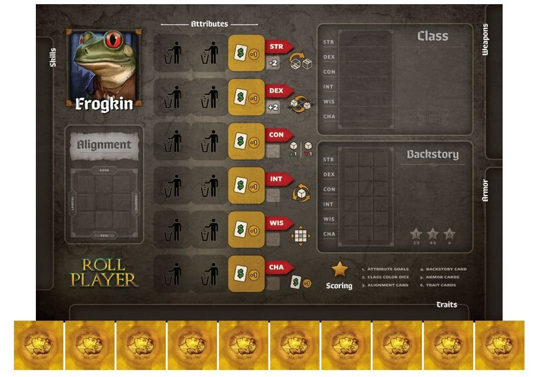 Image of Roll Player - Frogkin Promo Punchboard Preorder