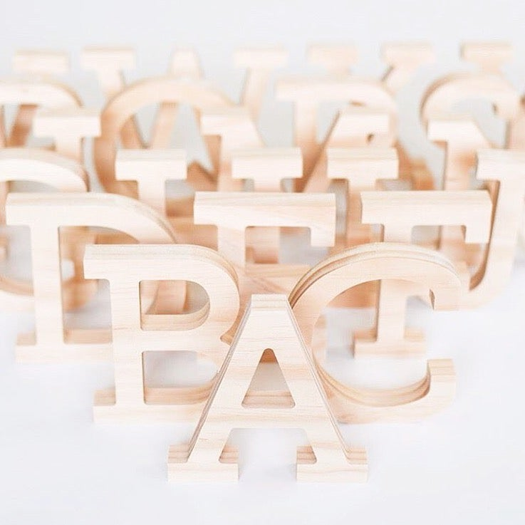 Image of Small Timber Letter - Uppercase