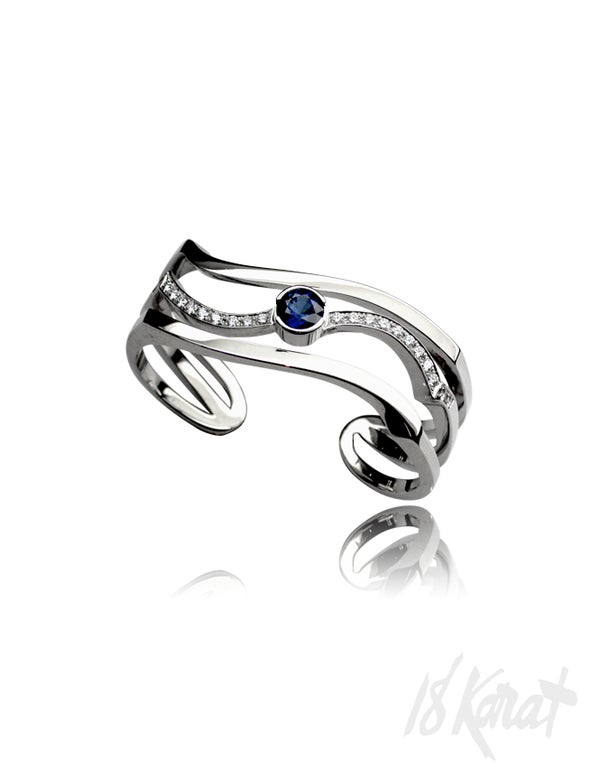 Tran's Sapphire and Diamond Ring - 18Karat Studio+Gallery