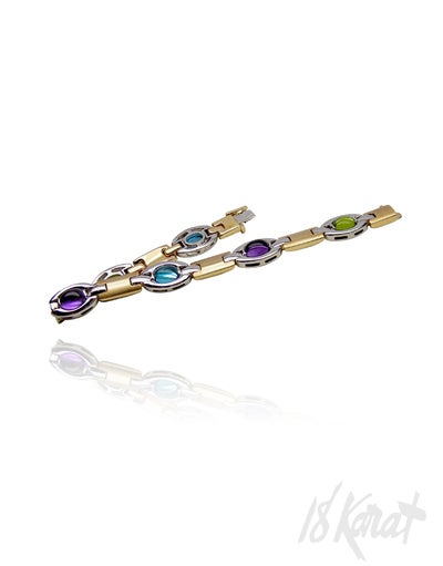 Joy's Amethyst, Peridot and Blue Topaz Bracelet - 18Karat Studio+Gallery