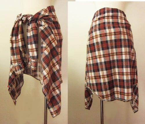 Image of Custom Studded Vintage Flannel