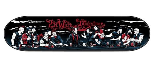 Image of Sined brand Skateboard Deck w/exclusive Dan Biesel artwork!