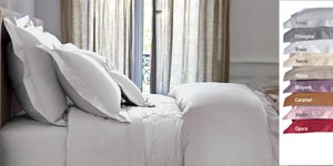 Image of Yves Delorme Triomphe  Silver - Pillow Cases