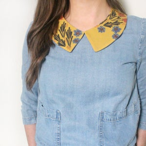 Image of Apricot Prairie - Faux Collar