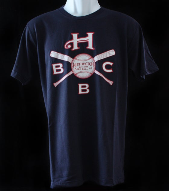 Image of HBBC Crossed Bats T Shirt - Navy