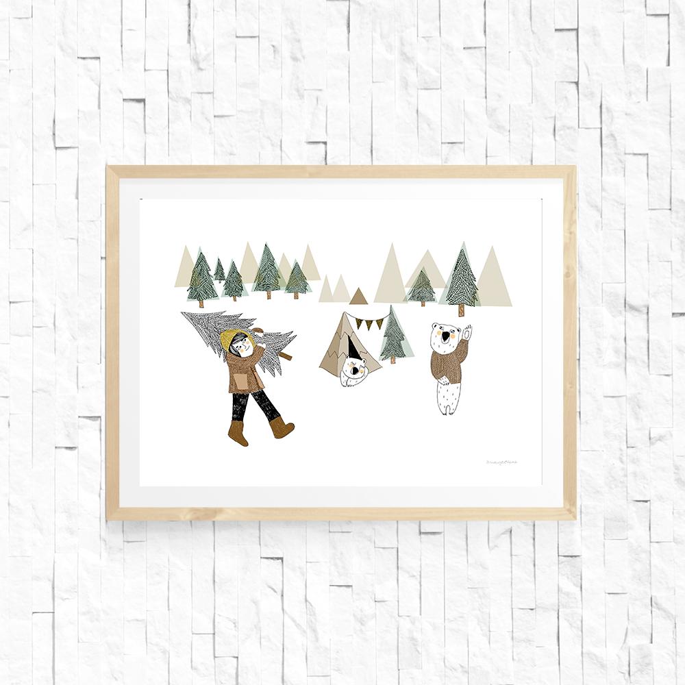 """Image of Lámina """"Invierno en el bosque"""""""