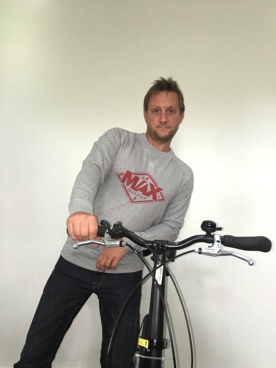 Image of Sweat-shirt  Gris - La MAX Radio - Rouge