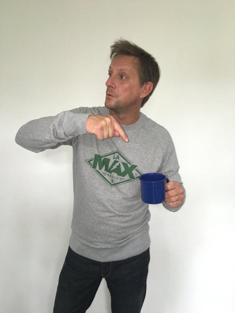 Image of Sweat-shirt  Gris - La MAX Radio - Vert