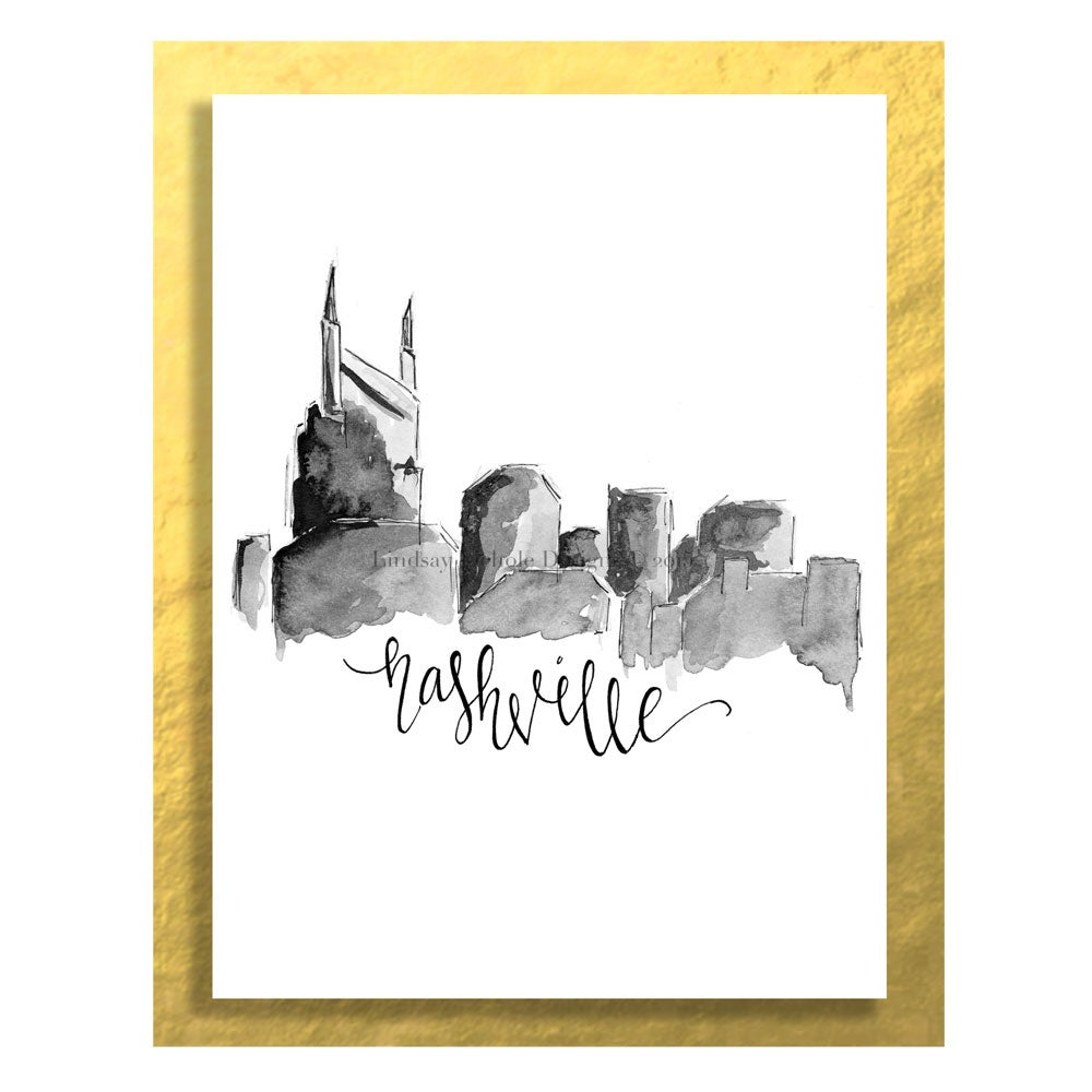 Image of Art Print: Nashville Skyline