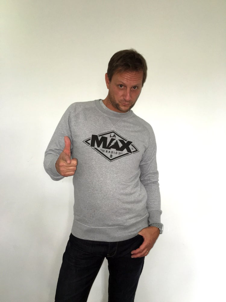 Image of Sweat-shirt  Gris - La MAX Radio - Noir