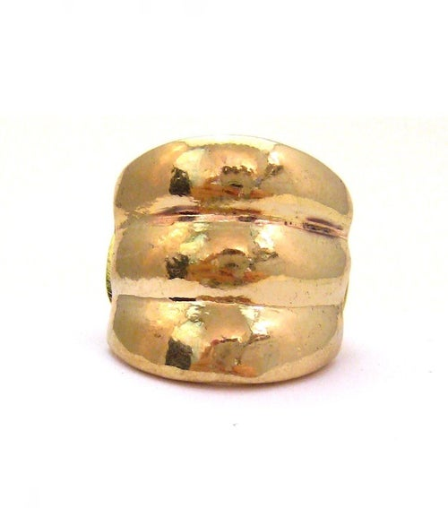 Image of Wide Gold Hammered Band (More Options)
