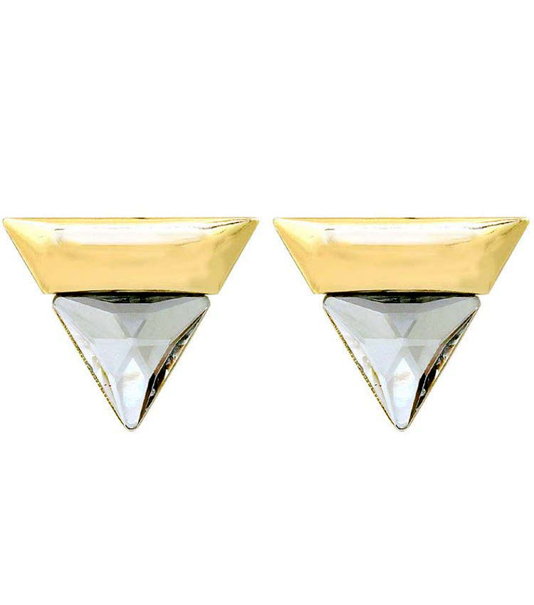 Image of Triangular Stone Statement Earrings