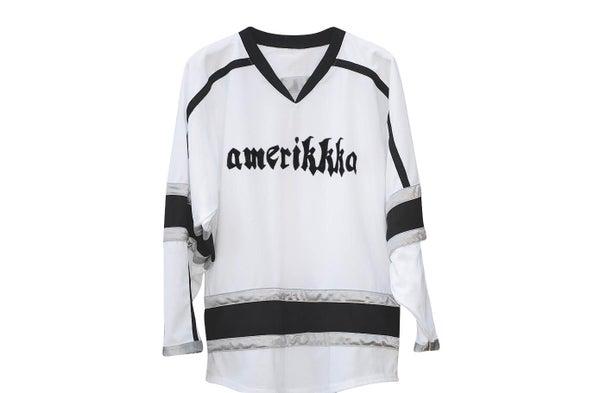 "Image of AmeriKKKa ""Land of the Fucked"" Hockey Jersey"