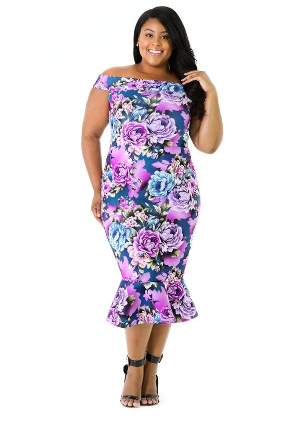 Image of Lantana Mermaid Dress