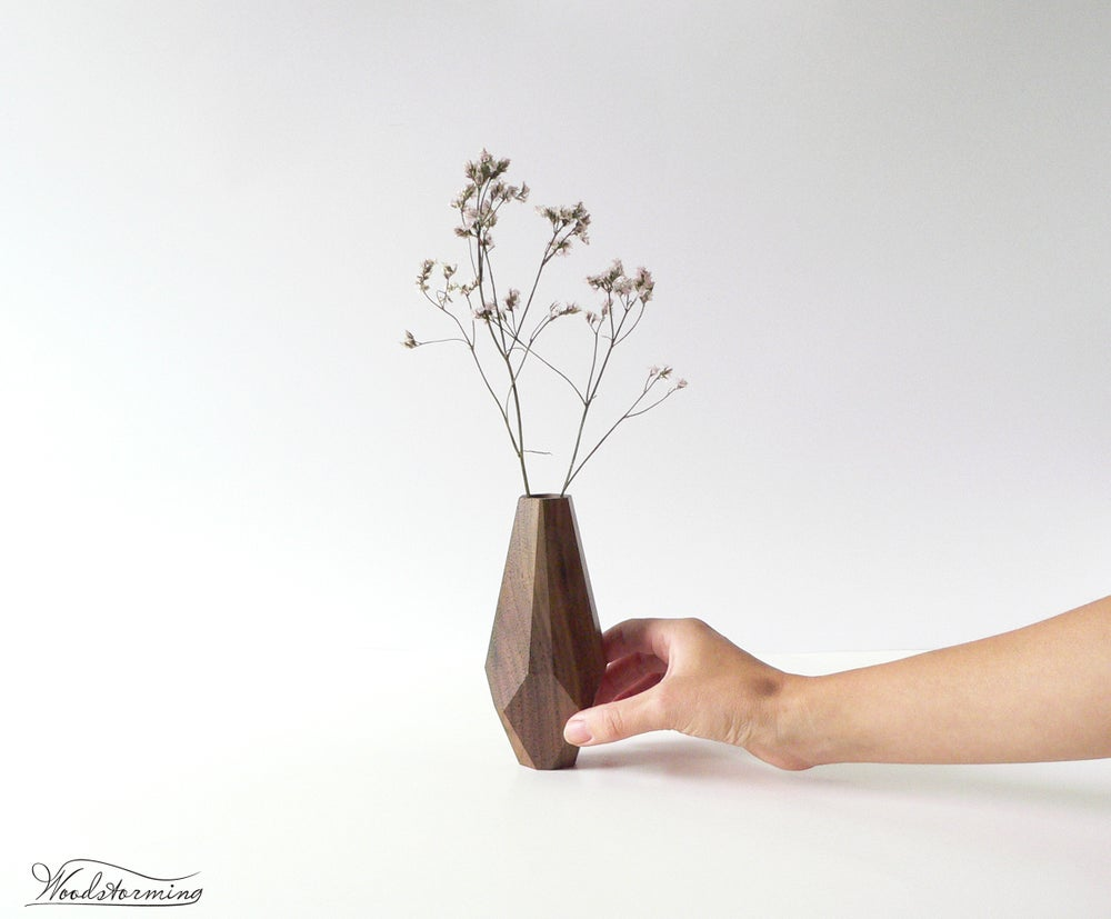 Woodstorming wood vase modern home decor dry flower vase image of wood vase modern home decor dry flower vase housewarming gift reviewsmspy