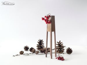 "Image of Modern wood vase ""Tower"" - dry flower vase - table centerpiece - handmade wood vase"