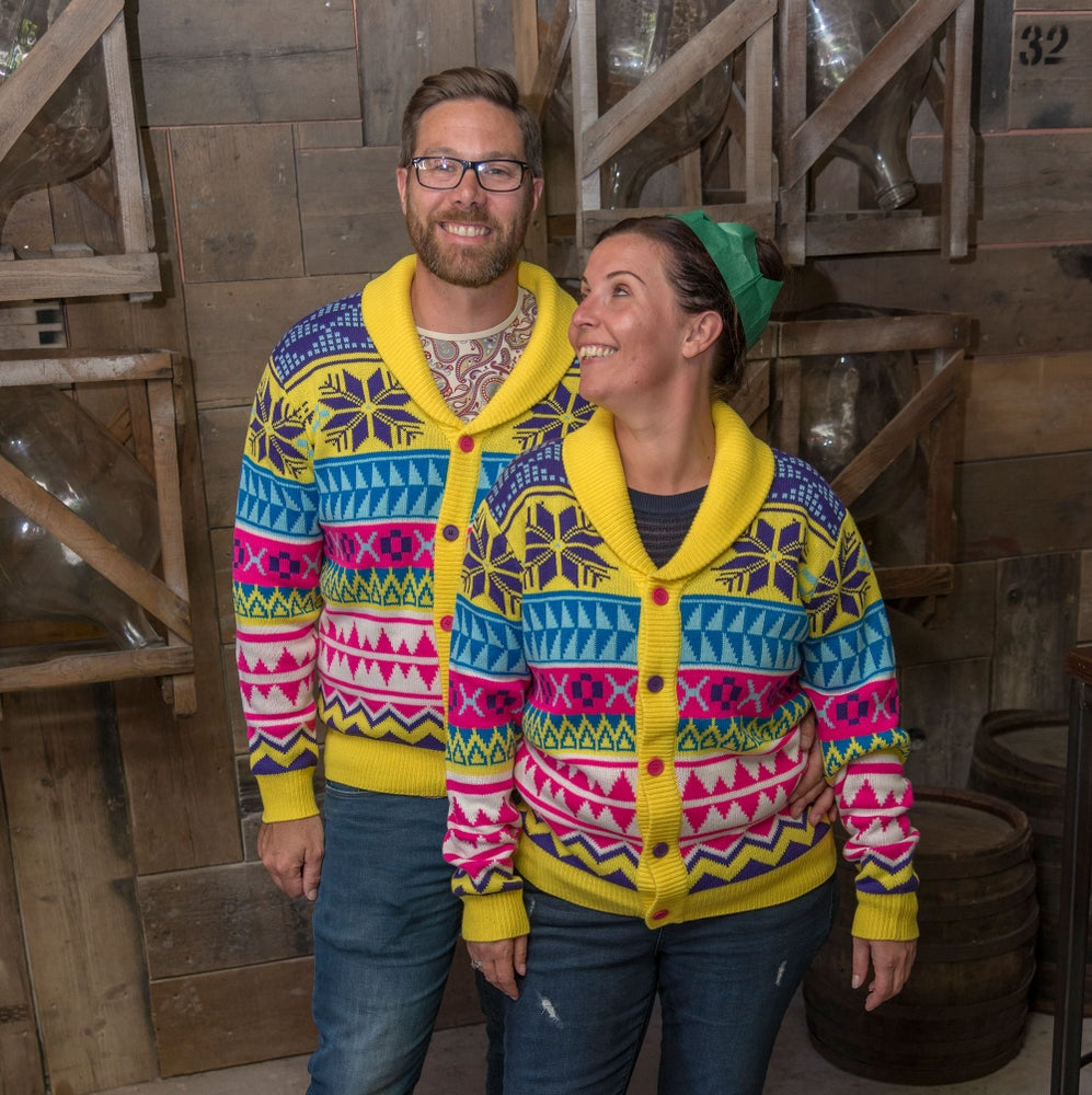 Image of Rainbow Wonderland Christmas Cardigan - Unisex