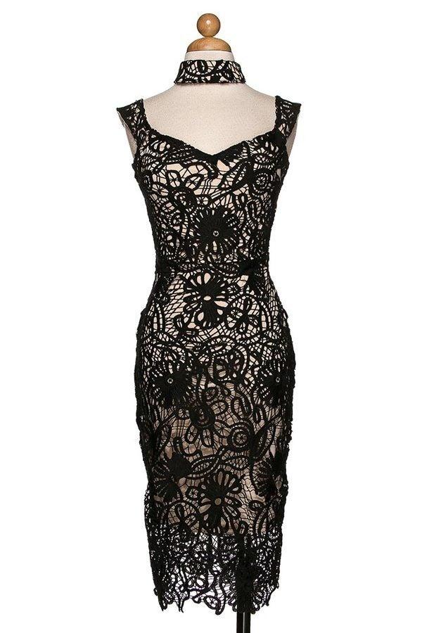 Image of Black Net Dress