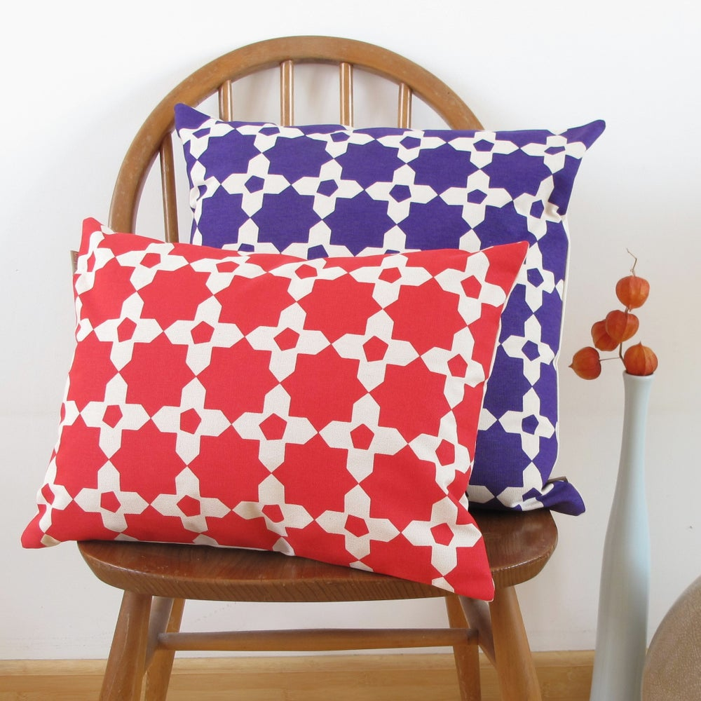 Image of Mosaic Tile Rectangle Cushion