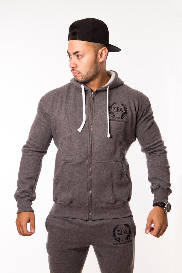 Elite Hoody - Charcoal/Black - Elite Fitness Apparel