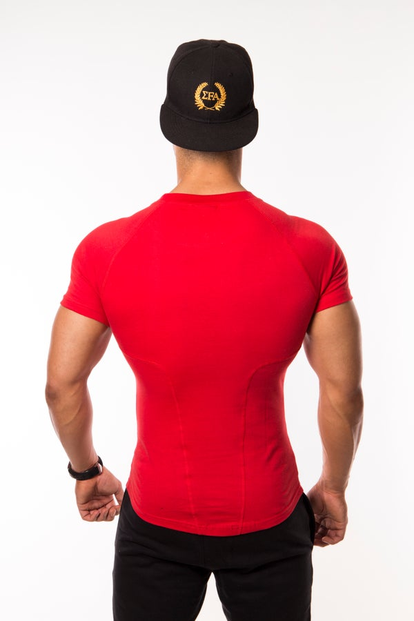 Elite Tee True Red - Elite Fitness Apparel